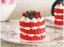 Red velvet mini pastacıklar tarifi